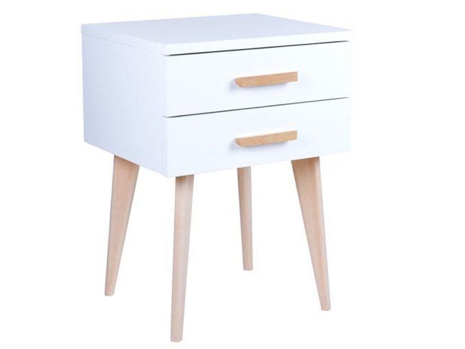 Biały stolik w stylu skandynawskim